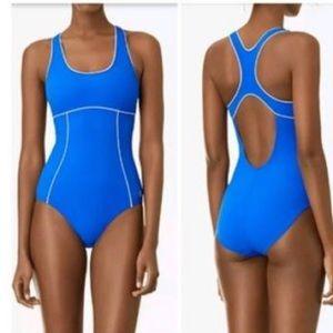 Tory Sport Tanksuit One Piece Swim Suit Cobalt